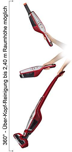 AEG ECO Ergorapido / CX7-35WR kabelloser 2in1 Staubsauger (beutellos, 35 Min. Laufzeit, Lithium-Power-Akku, Elektrobürste, 4 LED-Frontlichter) rot -