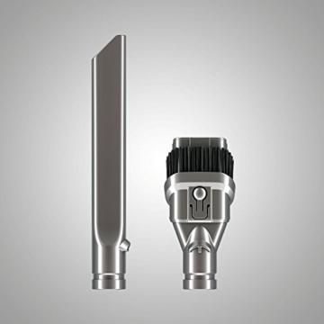Dyson V8 Absolute beutel- & kabelloser Staubsauger inkl. 3 Elektrobürsten mit Direktantrieb bzw. Softwalze & Fugendüse / Handstaubsauger mit Nickel-Cobalt-Aluminium Akku, Wandhalterung & Ladestation -