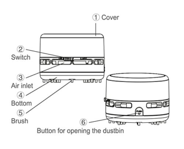 Peach PA105 batteriebetriebener Mini Staubsauger -
