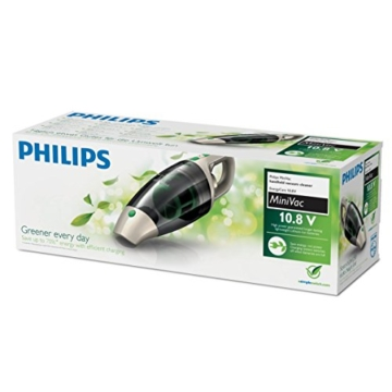 Philips ECO FC6148/01 Akkusauger (beutellos, 10,8V Li-Ionen-Akku, 2-stufig), 100 Watt, grau -