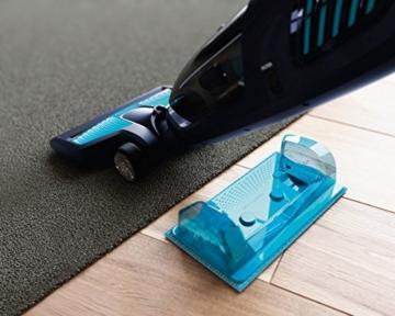 Philips PowerPro Aqua FC6401/01 Akkusauger mit Wischfunktion, 18V Li-Ionen, Türbodüse, inkl 2 Gratis Mikrofaserpads, blau -